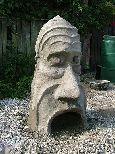 concrete head