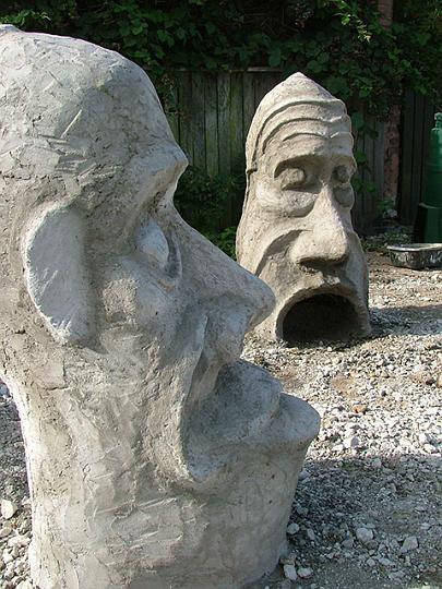 concrete heads